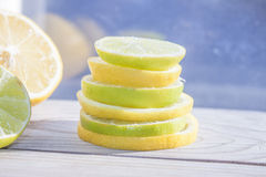 Lemon and lime tower Stock Images