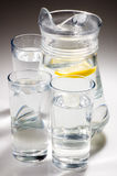 Lemon lime water. Lemonade or water and lemon and lime Royalty Free Stock Image