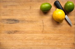 Lemon and limes waiting for cutting stock photography