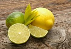 Lemon and limes Royalty Free Stock Images