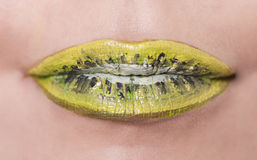 Lemon lips Royalty Free Stock Photos