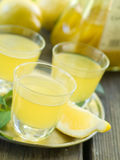 Lemon liqour (limoncello) Royalty Free Stock Photo