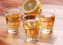 Lemon liqueur Royalty Free Stock Photo