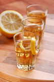 Lemon liqueur Stock Photo