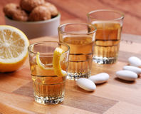 Lemon liqueur Royalty Free Stock Photo