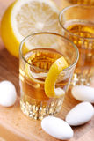 Lemon liqueur Stock Photography