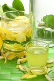 Lemon liqueur Royalty Free Stock Photos