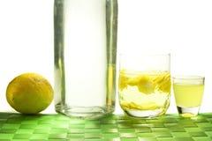 Lemon liqueur Stock Photo