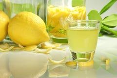 Lemon liqueur Stock Image