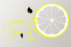 Lemon Logo for beauty salon Stock Photography