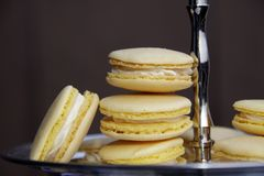 Lemon Macarons Royalty Free Stock Photo