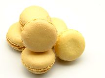 Lemon macarons Royalty Free Stock Images