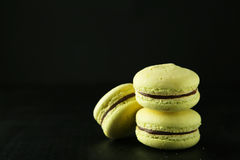 Lemon macarons Stock Images