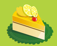 Lemon mango cake. Illustration Stock Image