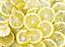 Lemon. Many scattered slices of lemons Royalty Free Stock Images