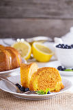 Lemon marble bundt cake Stock Photos
