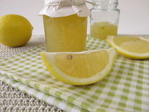 Lemon marmalade in jar Stock Images