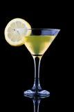 Lemon martini on black background Royalty Free Stock Photo