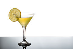 Lemon martini with lemon slice Royalty Free Stock Photography