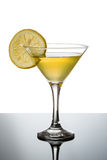 Lemon martini with lemon slice Stock Photography