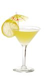 Lemon martini with a slice of lemon Royalty Free Stock Photo