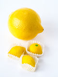 Lemon Marzipan Fruit Royalty Free Stock Photos