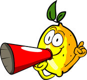 Lemon with megaphone Stock Images
