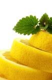 Lemon and melisa. Lemon and melis on a white background Stock Images