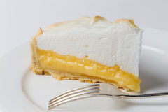Lemon meringe pie slice Stock Image