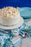 Lemon meringue cake Royalty Free Stock Photography