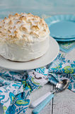 Lemon meringue cake Stock Images
