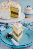 Lemon meringue cake Royalty Free Stock Photo