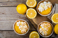 Lemon meringue mini pies Stock Photo