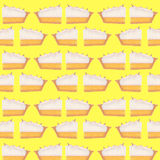 Lemon Meringue Pattern Illustration Stock Photo