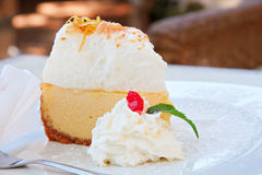 Lemon meringue pie Royalty Free Stock Image