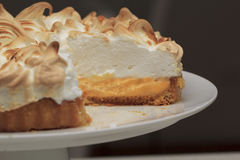 Lemon meringue pie Stock Photos