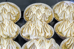 Lemon Meringue Pie Custard Tart Stock Photos