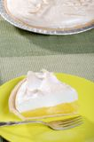 Lemon meringue pie with fork Royalty Free Stock Image