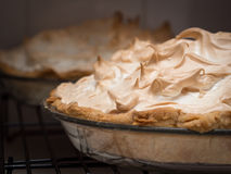 Lemon meringue pies Royalty Free Stock Images
