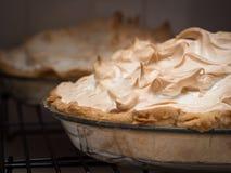 Lemon meringue pies royalty free stock images