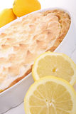 Lemon meringue tart Stock Photography