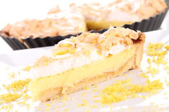 Lemon Meringue Tart Royalty Free Stock Photos