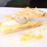 Lemon Meringue Tart Royalty Free Stock Images