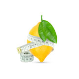 Lemon with meter Stock Photo