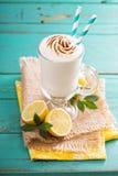 Lemon milkshake with meringue on top Stock Images