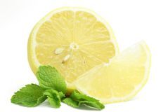 Lemon and mint Royalty Free Stock Photo