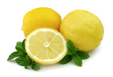 Lemon with mint Royalty Free Stock Images