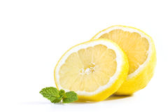 Lemon with mint Stock Image