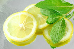 Lemon & Mint Stock Photo