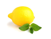 Lemon with mint Royalty Free Stock Photo